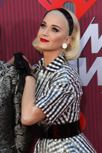 LOS ANGELES, CALIFORNIA - MARCH 14:  Katy Perry arrives at the 2019 iHeartRadio Music Awards which broadcasted live on FOX at Microsoft Theater on March 14, 2019 in Los Angeles, California. (Photo by Toni Anne Barson/WireImage)