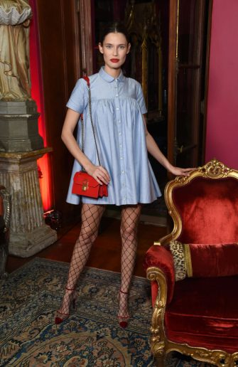 LOS ANGELES, CALIFORNIA - DECEMBER 05: Bianca Balti attends the Christian Louboutin & Laura Brown Celebrate The Debut Of The 'ELISA' at The Paramour Estate on December 05, 2019 in Los Angeles, California. (Photo by Michael Kovac/Getty Images for Christian Louboutin )
