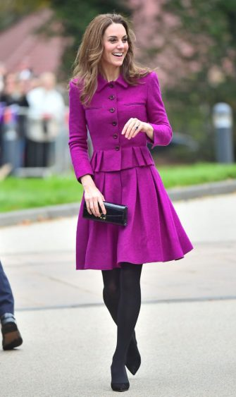 FRAMINGHAM EARL, NORFOLK - NOVEMBER 15: Catherine, Duchess of Cambridge arrives to open The Nook Children Hospice on November 15, 2019 in Framingham Earl, Norfolk. The Duchess of Cambridge is Royal Patron of East Anglia's Children's Hospices. (Photo by Samir Hussein/WireImage)