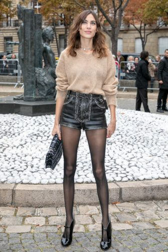 PARIS, FRANCE - OCTOBER 02:  Alexa Chung attends the Miu Miu show as part of the Paris Fashion Week Womenswear Spring/Summer 2019 on October 2, 2018 in Paris, France.  (Photo by Marc Piasecki/WireImage)