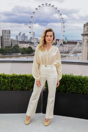 LONDON, ENGLAND - JULY 31: Margot Robbie attends the Once Upon A Timeâ ¦In Hollywood Photocall in London at The Corinthia Hotel on July 31, 2019 in London, England. (Photo by Tim P. Whitby/Getty Images for Sony)