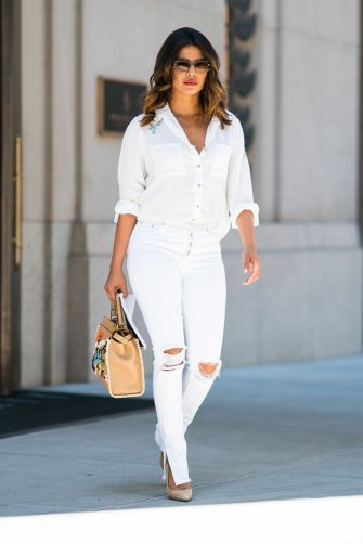 NEW YORK, NY - JULY 05:  Priyanka Chopra is seen in Tribeca on July 5, 2018 in New York City.  (Photo by Gotham/GC Images)