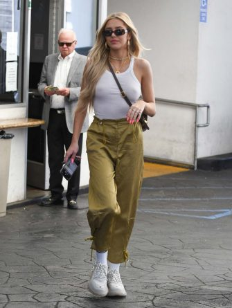 LOS ANGELES, CA - APRIL 18: Delilah Belle Hamlin is seen on April 18, 2019 in Los Angeles, California.  (Photo by BG002/Bauer-Griffin/GC Images)