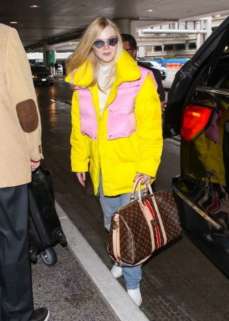 LOS ANGELES, CA - MARCH 06: Elle Fanning is seen on March 06, 2019 in Los Angeles, California.  (Photo by BG023/Bauer-Griffin/GC Images)