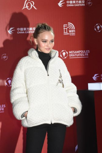 PARIS, FRANCE - NOVEMBER 22:  Lily Rose Depp attends Christmas Lights Launch On The Champs Elysees on November 22, 2017 in Paris, France.  (Photo by Foc Kan/WireImage)