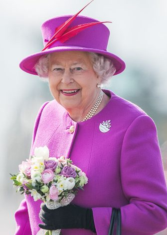 PLYMOUTH, ENGLAND - MARCH 20:  Queen Elizabeth II visits HMS Ocean on March 20, 2015 in Plymouth, England.  (Photo by Samir Hussein/WireImage)