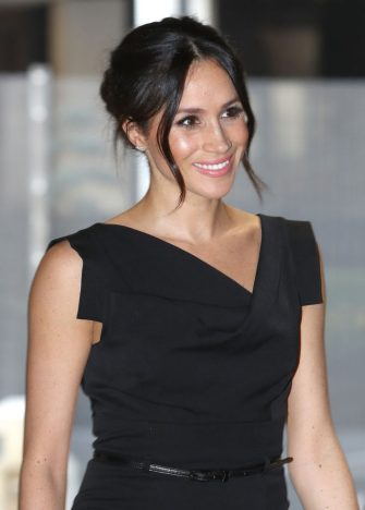 LONDON, ENGLAND - APRIL 19:  Meghan Markle attends the Women's Empowerment reception hosted by Foreign Secretary Boris Johnson during the Commonwealth Heads of Government Meeting at the Royal Aeronautical Society on April 19, 2018 in London, England. (Photo by Chris Jackson - WPA Pool/Getty Images)