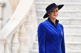 MONACO - NOVEMBER 19:  Princess Charlene attends the Monaco National day celebrations in Monaco Palace  courtyard on November 19, 2017 in Monaco, Monaco.  (Photo by Pascal Le Segretain/Getty Images)