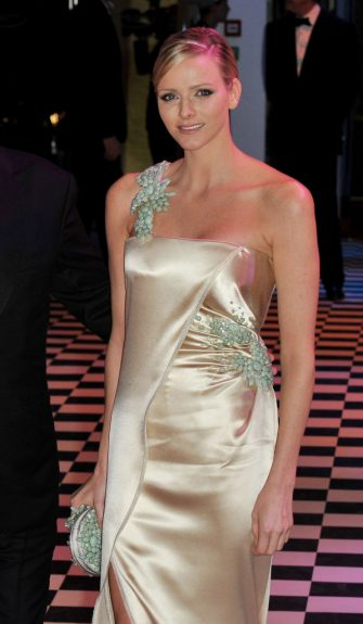 MONACO - MARCH 27:  Charlene Wittstock arrives to attend the Monte Carlo Morocco Rose Ball 2010 held at the Sporting Monte Carlo on March 27, 2010 in Monaco, Monaco.  (Photo by Pascal Le Segretain/Getty Images)