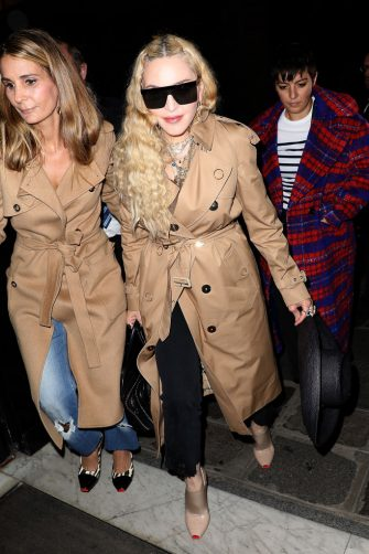 PARIS, FRANCE - SEPTEMBER 30:  Madonna arrives at a Hotel on September 30, 2018 in Paris, France.  (Photo by Pierre Suu/Getty Images)