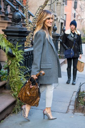 NEW YORK, NY - FEBRUARY 06:  Sarah Jessica Parker is seen in the West Village on February 6, 2018 in New York City.  (Photo by Gotham/GC Images)