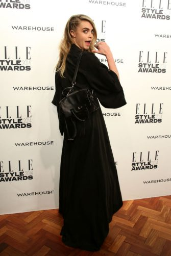 LONDON, ENGLAND - FEBRUARY 18:  Model Cara Delevingne attends the Elle Style Awards 2014 at one Embankment on February 18, 2014 in London, England.  (Photo by Mike Marsland/WireImage)