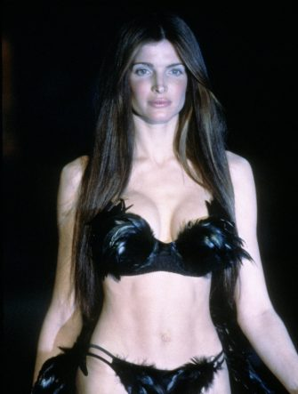 NEW YORK, NY - CIRCA 1999: Stephanie Seymour at the 1999 Victoria's Secret Fashion show circa 1999 in New York City. (Photo by Images Press/IMAGES/Getty Images)