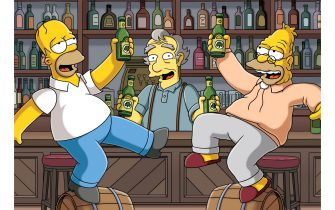 """THE SIMPSONS: The family travels to Ireland to take Grandpa to have one last beer at his beloved O'Flanagan's Pub, only to discover the little town of Dunkilderry isn't the quaint little Irish village anymore and O'Flanagan's Pub is rundown and nearly empty. Homer and Grandpa buy the pub from Tom O'Flanagan (guest voice Colm Meaney), and with a little help from Moe, try to bring it back to life amidst the ultra-hip, hardworking sober yuppies of the small Irish town, and put """"Simpson & Son"""" on the map in the """"In the Name of the Grandfather"""" episode of THE SIMPSONS airing Sunday, March 22 (8:00-8:30 PM ET/PT) on FOX.  THE DIMPDOND ™ and ©2009 TTCFFC ALL RIGHTS RESERVED."""