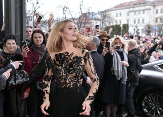 epaselect epa06639445 US model, businesswoman and socialite Paris Hilton (C) arrives to the Grand Hotel in Lviv, Western Ukraine, 31 March 2018. Hilton and her fiance US actor Chris Zylka arrived in Lviv to take part in the opening ceremony of the Grand Hotel after reconstruction and getting acquainted with Ukraine because a Chris Zylka grandfather was expatriate from Ukraine, as local media report.  EPA/MYKOLA TYS
