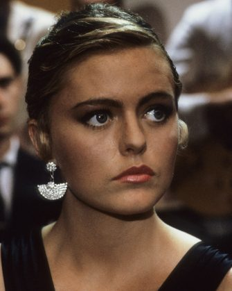 UNITED KINGDOM - MAY 01:  Patsy Kensit on the set of 'Absolute Beginners', directed by Julien Temple, UK, May 1985.  (Photo by Georges De Keerle/Getty Images)