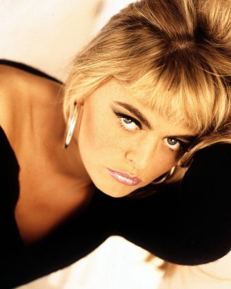 LONDON:Patsy Kensit, singer with Eighth Wonder posed in London in 1986 (Photo by Mike Prior/Getty Images)