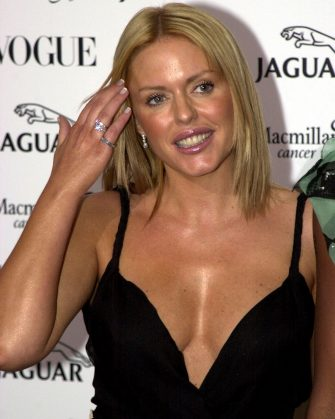 """390463 07: Actress Patsy Kensit arrives at the Vogue & Jaguar """"It''s Fashion"""" charity gala June 11, 2001 on the grounds of Waddesdon Manor in Buckinghamshire, Great Britain in aid of Macmillan Cancer Relief. (Photo By Anthony Harvey/Getty Images)"""