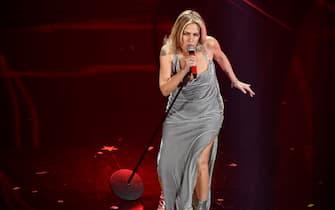 SANREMO, ITALY - FEBRUARY 08: Irene Grandi attends the 70° Festival di Sanremo (Sanremo Music Festival) at Teatro Ariston on February 08, 2020 in Sanremo, Italy. (Photo by Daniele Venturelli/Daniele Venturelli/Getty Images )
