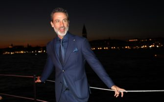 VENICE, ITALY - SEPTEMBER 03: Raz Degan is seen during Venetika projection at Campari Floating Cinema on September 03, 2019 in Venice, Italy. (Photo by Elisabetta Villa/Getty Images for Campari)