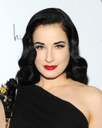 """NEW YORK, NY - MARCH 05:  Entertainer Dita Von Teese attends the """"Dukes Of Melrose"""" Premiere at 583 Park Avenue on March 5, 2013 in New York City.  (Photo by Ben Gabbe/Getty Images)"""