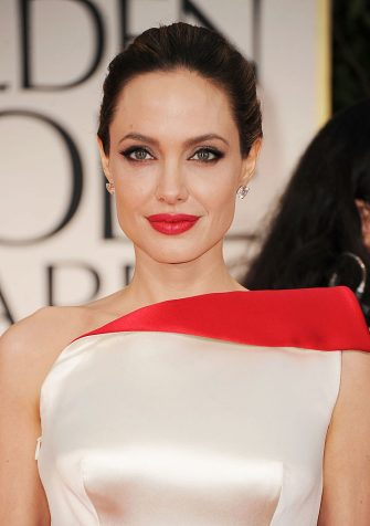 BEVERLY HILLS, CA - JANUARY 15:  Actress Angelina Jolie arrives at the 69th Annual Golden Globe Awards held at the Beverly Hilton Hotel on January 15, 2012 in Beverly Hills, California.  (Photo by Frazer Harrison/Getty Images)