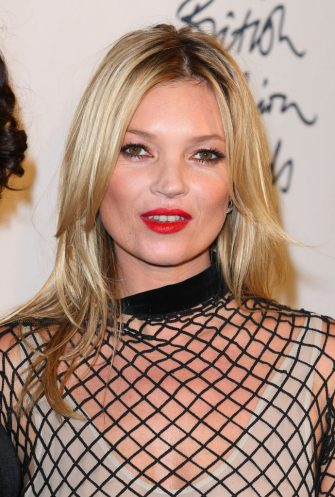 LONDON, ENGLAND - NOVEMBER 28:  Kate Moss in the press room at the British Fashion Awards at The Savoy Hotel on November 28, 2011 in London, England.  (Photo by Mike Marsland/WireImage)