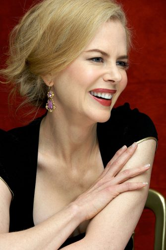 """LONDON - NOVEMBER 27:  Nicole Kidman at """"The Golden Compass"""" press conference at the Claridges Hotel in London, England on November 27, 2007.  (Photo by Vera Anderson/WireImage)"""