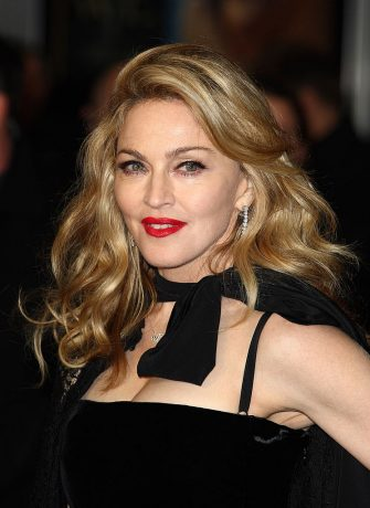 LONDON, ENGLAND - JANUARY 11: Madonna  attends the UK premiere of W.E. at ODEON Kensington on January 11, 2012 in London, England.  (Photo by Mike Marsland/Wireimage)