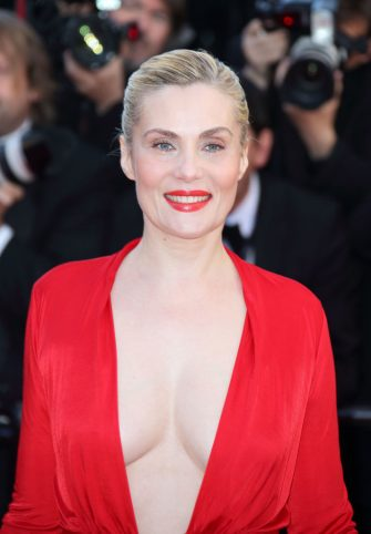 CANNES, FRANCE - MAY 25:  Emmanuelle Seigner attends the Premiere of 'La Venus A La Fourrure' at The 66th Annual Cannes Film Festival on May 25, 2013 in Cannes, France.  (Photo by Mike Marsland/WireImage)