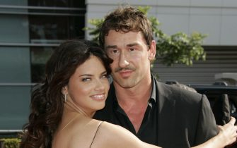 May 2, 2014 - The Brazilian-born supermodel ADRIANA LIMA and the Serbian basketball player Marko Jaric have separated. The couple secretly married in Jackson Hole, Wyoming 2009 and are parents to daughters Valentina, 4 and Sienna, 1. PICTURED - July 16, 2008 - Brazilian supermodel Adriana Lima and husband NBA basketball player Marko Jaric during arrivals at the 2008 ESPY Awards held at Nokia Theater. (Credit Image: � Lisa O'Connor/ZUMA Wire/ZUMA Press)