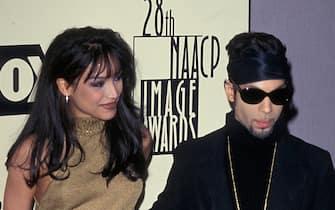 Feb 07, 1997 - Hollywood, California, USA - Musical Legend PRINCE and his wife MAYTE GARCIA at the 1997 NAACP Awards. (Credit Image: © Jonathan Alcorn/ZUMA Press)