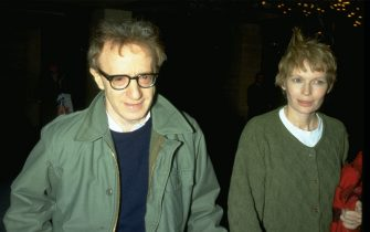 UNDATED FILE PHOTO: Woody Allen and Mia Farrow. (Photo by Diane Freed)