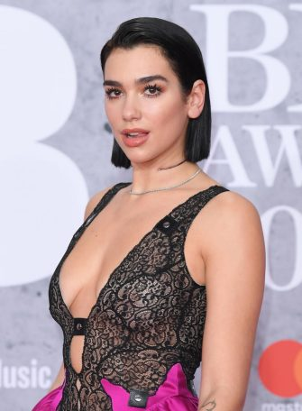 LONDON, ENGLAND - FEBRUARY 20: (EDITORIAL USE ONLY) Dua Lipa attends The BRIT Awards 2019 held at The O2 Arena on February 20, 2019 in London, England. (Photo by Karwai Tang/WireImage)
