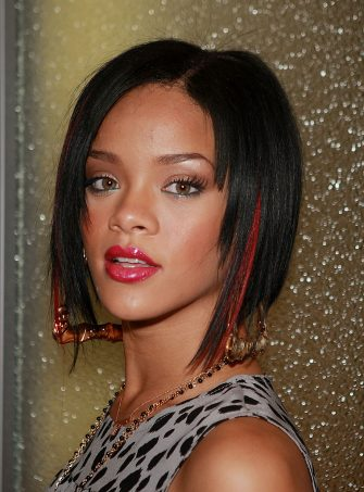 NEW YORK - JUNE 11:  (U.S. TABLOIDS OUT)  Singer Rihanna poses backstage after an appearance on MTV's Total Request Live, June 11, 2007 in New York City.  (Photo by Evan Agostini/Getty Images)