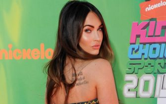 LOS ANGELES, CA - JULY 17:  Actress Megan Fox attends Nickelodeon Kids' Choice Sports Awards 2014 at Pauley Pavilion on July 17, 2014 in Los Angeles, California.  (Photo by Allen Berezovsky/WireImage)