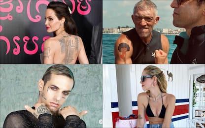 Da Chiara Ferragni ad Achille Lauro, i tatuaggi delle star
