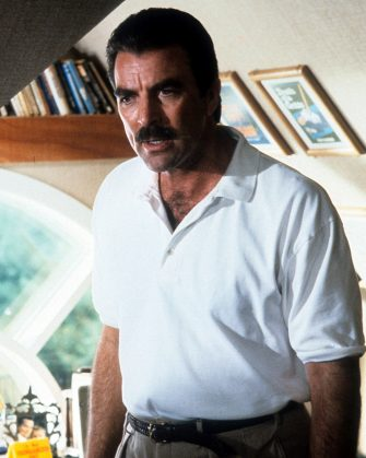 Tom Selleck in a scene from the film 'Her Alibi', 1989. (Photo by Warner Brothers/Getty Images)
