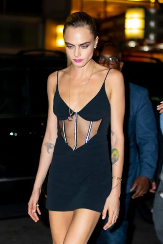NEW YORK, NEW YORK - SEPTEMBER 03: Cara Delevingne is seen in Midtown on September 03, 2019 in New York City. (Photo by Gotham/GC Images)