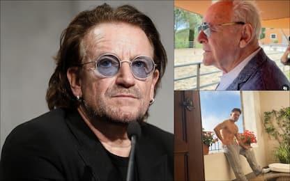 Le star in vacanza in Italia, da Bono Vox a Anthony Hopkins. FOTO
