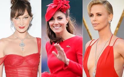 Come vestirsi a Capodanno, i vestiti rossi delle star a cui ispirarsi