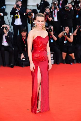 """VENICE, ITALY - AUGUST 29: Scarlett Johansson walks the red carpet ahead of the """"Marriage Story"""" screening during during the 76th Venice Film Festival at Sala Grande on August 29, 2019 in Venice, Italy. (Photo by Dominique Charriau/WireImage)"""