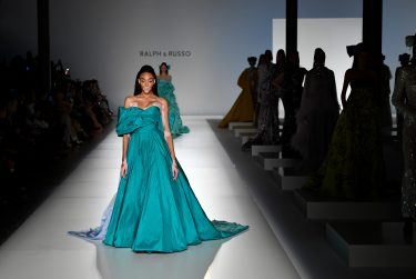 PARIS, FRANCE - JANUARY 20: Winnie Harlow walks the runway during the Ralph & Russo Haute Couture Spring/Summer 2020 show as part of Paris Fashion Week on January 20, 2020 in Paris, France. (Photo by Kristy Sparow/Getty Images)