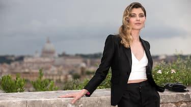 ROME, ITALY - JUNE 13: Vittoria Puccini attends Globi D'Oro awards ceremony at the Academie de France Villa Medici on June 13, 2018 in Rome, Italy.  (Photo by Franco Origlia/Getty Images)