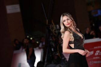 """ROME, ITALY - OCTOBER 22: Martina Stella attends the red carpet of the movie """"Judy"""" during the 14th Rome Film Festival on October 22, 2019 in Rome, Italy. (Photo by Vittorio Zunino Celotto/Getty Images for RFF)"""