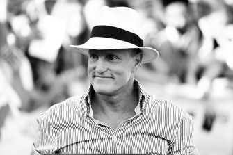 GIFFONI VALLE PIANA, ITALY - JULY 20: (EDITORS NOTE: Image has been converted to black and white) Woody Harrelson attends Giffoni Film Festival 2019 on July 20, 2019 in Giffoni Valle Piana, Italy. (Photo by Vittorio Zunino Celotto/Getty Images)