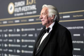 """ZURICH, SWITZERLAND - SEPTEMBER 28:  Donald Sutherland attends the """"The Burnt Orange Heresy"""" premiere during the 15th Zurich Film Festival at Kino Corso on September 28, 2019 in Zurich, Switzerland. (Photo by Andreas Rentz/Getty Images for ZFF)"""