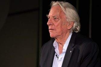 ZURICH, SWITZERLAND - SEPTEMBER 28:  Donald Sutherland speaks at the ZFF Masters during the 15th Zurich Film Festival on September 28, 2019 in Zurich, Switzerland. (Photo by Andreas Rentz/Getty Images for ZFF)