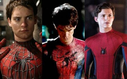 Spider-Man, live action con Maguire, Garfield e Holland
