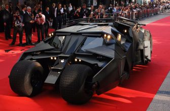 LONDON - JULY 21: The batmobile drives up the red carpet at the European Premiere of the new Batman film, 'The Dark Knight' on July 21, 2008 at the Odeon Leicester Square in London, England. (Photo by Samir Hussein/Getty Images)